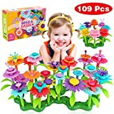 Dreampark Flower Building Toys, Garden Building Set for Girls and Toddlers, Early Educational Learning Toy Birthday Gifts Creativity Play for 3-7 Year Old Kids (109 PCS)