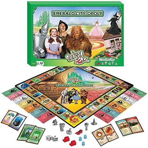 Wizard Of Oz Emerald City-Opoly Game w/ 6 Collectible Pewter Token Pieces (Wizard Crystal Ball)
