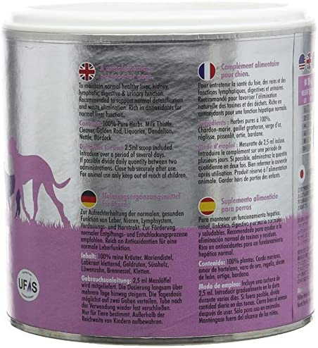 Hilton Herbs Canine Detox Support Supplement for Dogs, 2.1 oz Tub