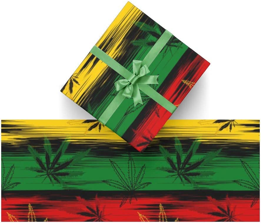 GiftWrap Pretty Cannabis Wrapping Paper Scrapbook Paper Drawerliner Set of 3 Sheets Poster