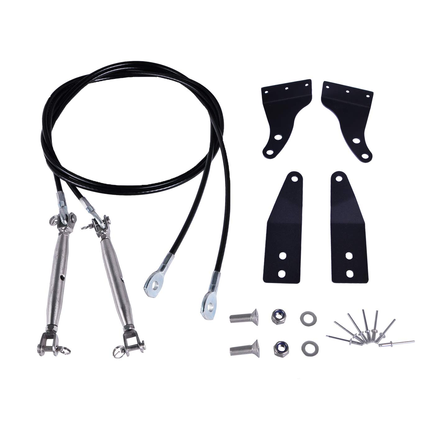 OMOTOR 2pcs Limb Riser Kit fit for JK Jeep Wrangler 2007-2018 Through the jungle Protector Obstacle Eliminate Rope