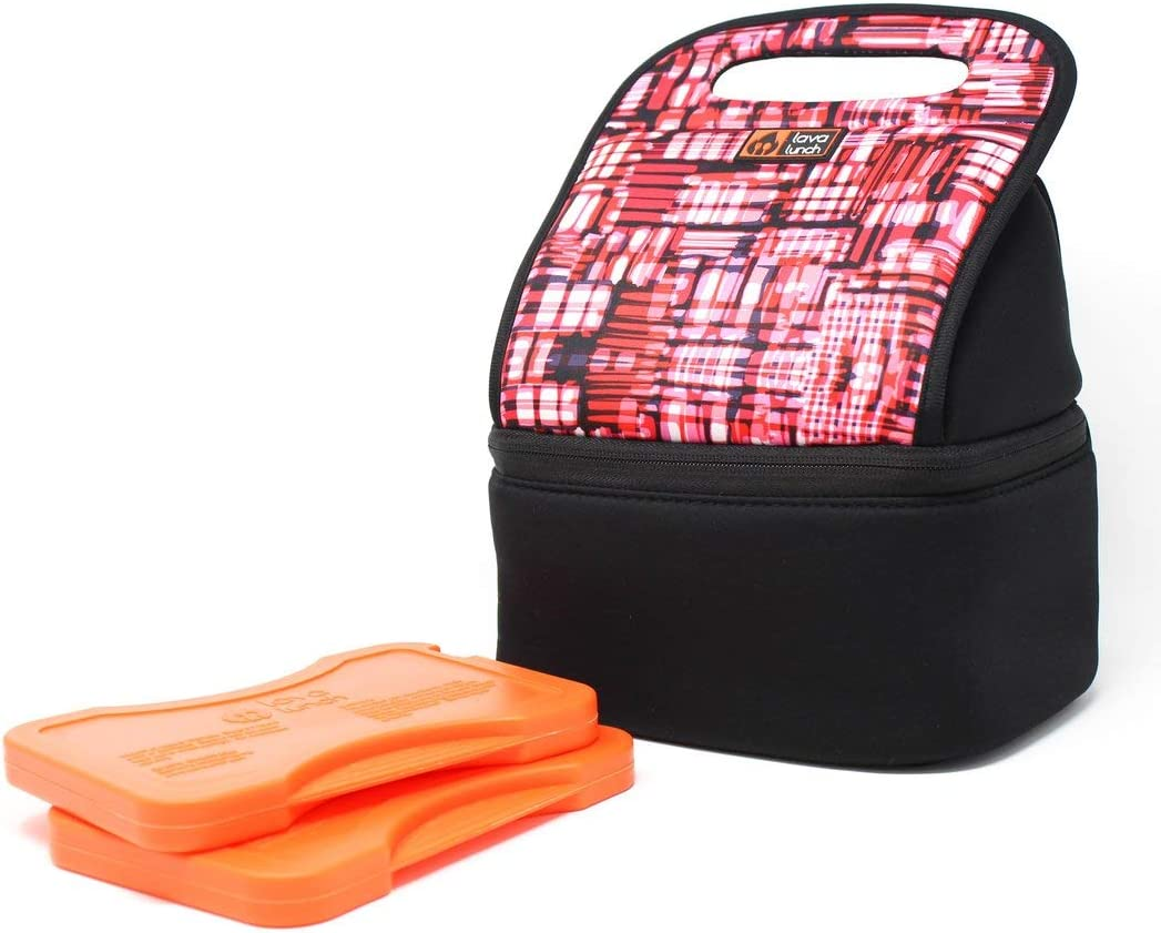 Lava Lunch Lunch Box Insulated Heated Lunch Bag | Large Heated & Cooled Lunch Box for Men, Women, & Kids (PINK) | Comes with Heat Packs (Lava Rocks)