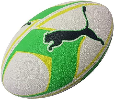 Puma sa gráfico Pelota de Rugby [Blanco/Verde/Amarillo], Blanco ...