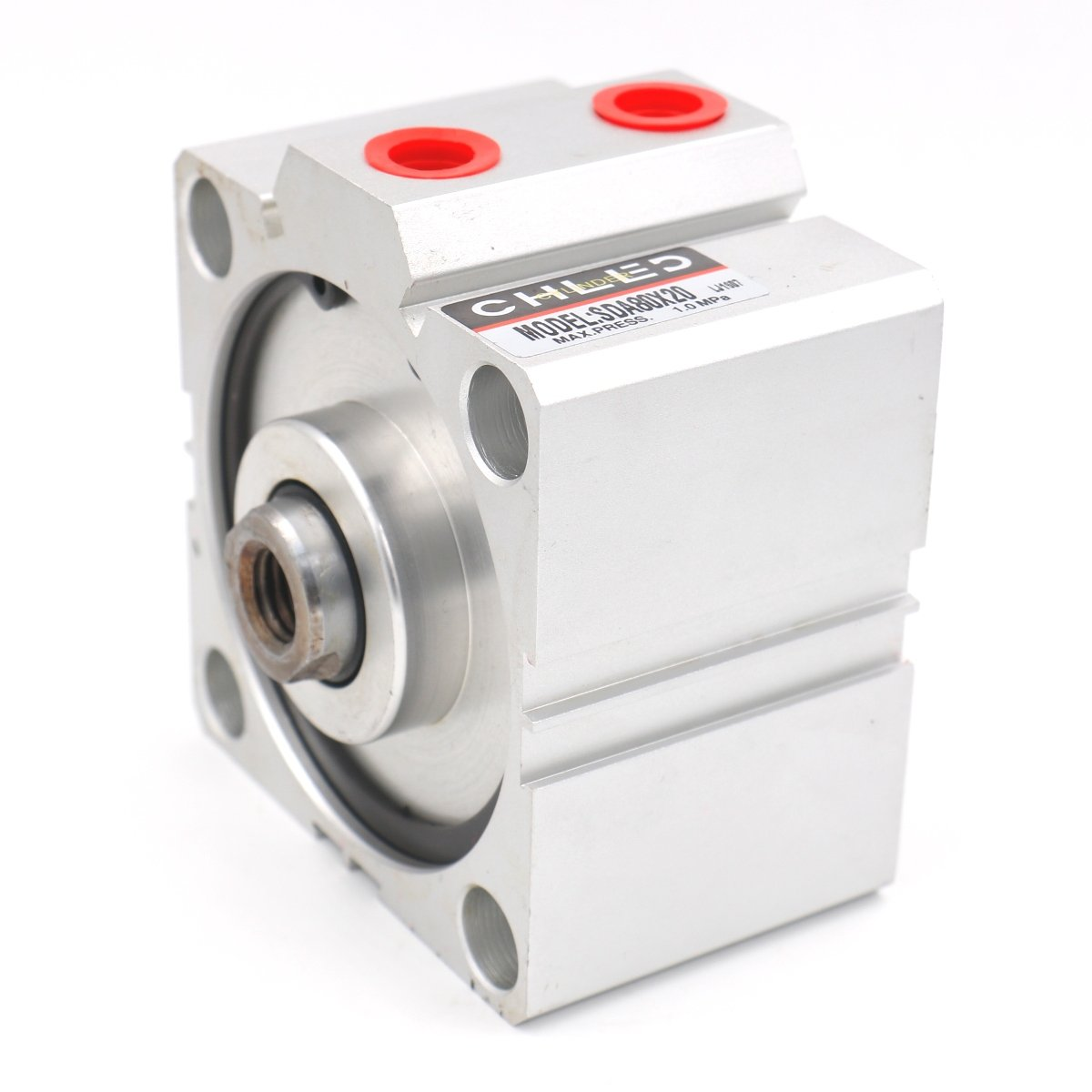 Baomain Compact Thin Air Cylinder SDA 80x20 80mm Bore 20mm Stroke PT3/8 Port