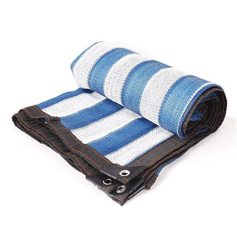 DALL ターポリン シェードセイル シェーディング率90% 日よけ布 パーゴラカバー アウトドア スイミングプール 強化テープ グロメット (Color : Blue, Size : 8×10m) B07SX11ZLD Blue 8×10m