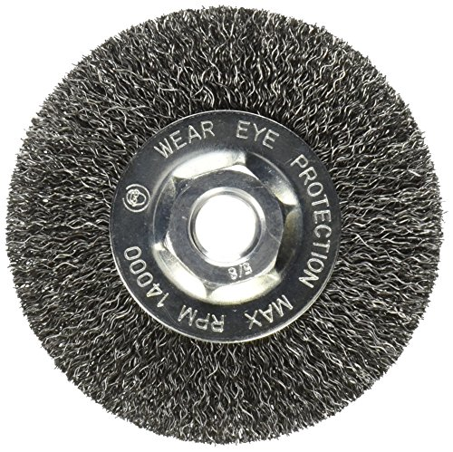 """Mercer Industries 187010 Crimped Wire Wheel, 4"""" x 1/2"""" x 5/8""""-11, For Angle Grinders"""