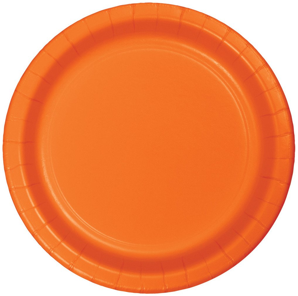 Creative Converting Celebrations 96 Count Dinner Plates, 9'', Sunkissed Orange