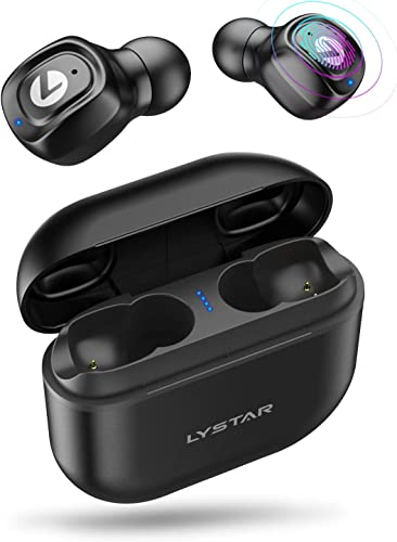 Wireless Earbuds, LYSTAR 5.0 Bluetooth Earbuds HD Stereo Sound 72H Playtime IPX7 Waterproof Touch Control in-Ear Binaural Bluetooth Headphones with Build-in Mic and 2200mAh Charging Case