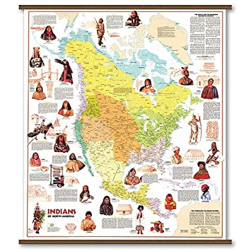 Amazon.com: Rolled Map - Indian Tribes of North America ...