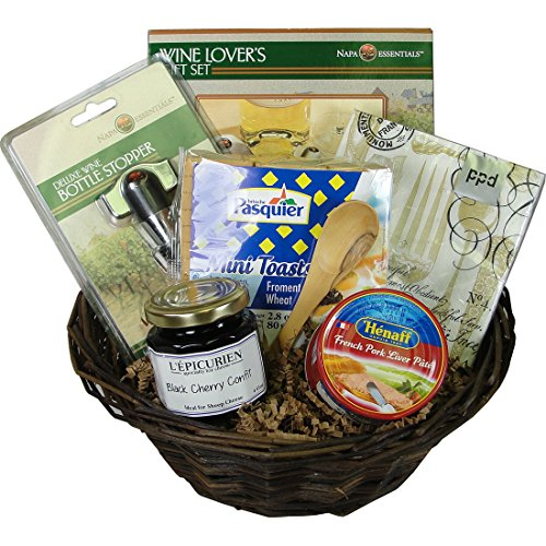 Wine Accessories and French Aperitif Gift Basket