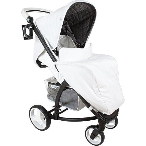 Mi Babiie Katie Piper MB200, blanco carrito de bebé – incluye protector de lluvia
