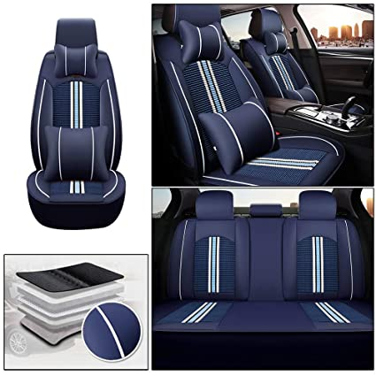 Tailored Fabric Seat Covers Full Set For SKODA RAPID