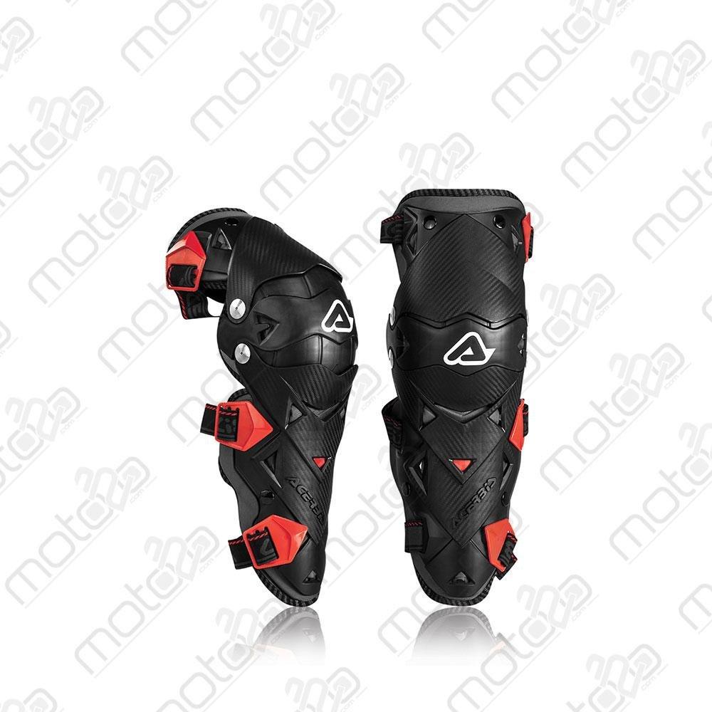 Ginocchiera Impact Evo 3.0 nero/rosso Acerbis
