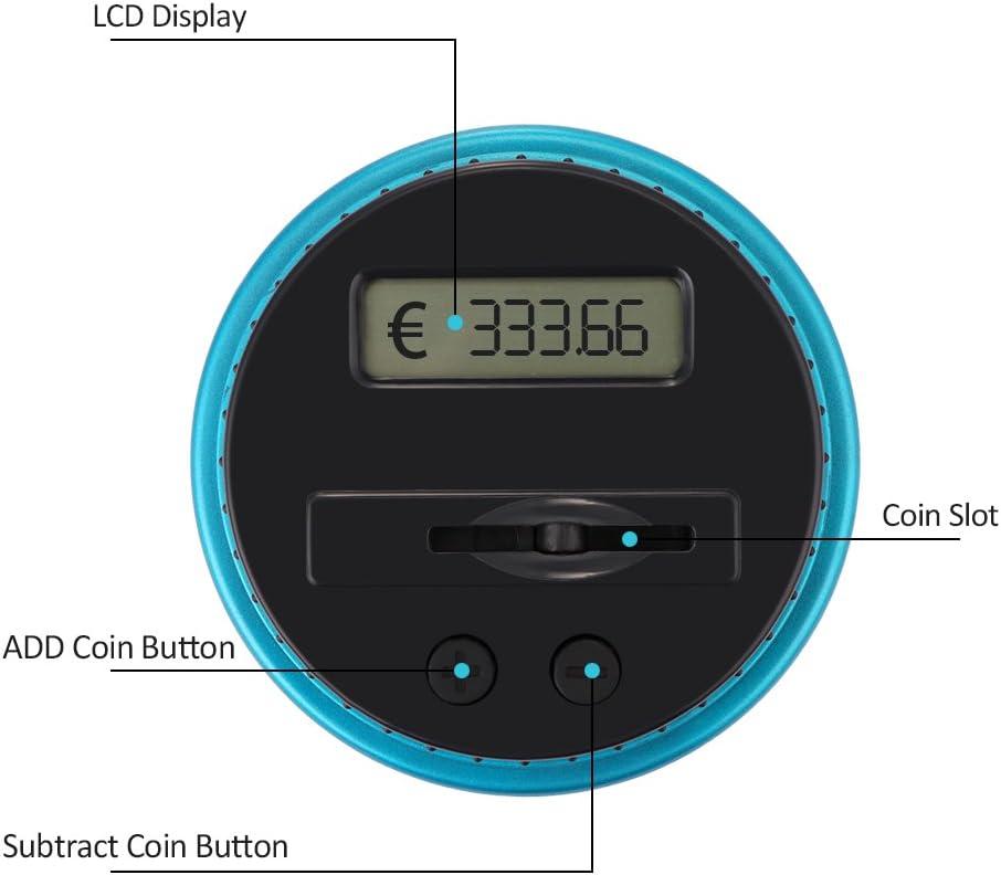 2.5L Tirelire Compteur Numerique Electronique Numerique LCD Comptage Piece