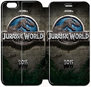 Fashion Style Jurassic Park Phone case Thin Slim Flip Leather Case Cover For iPhone 6 plus 5.5 inch OOL2973768