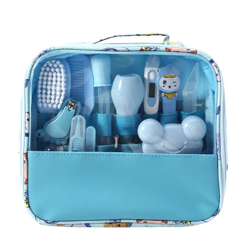 Hothuimin Deluxe 14-Piece Baby Healthcare and Grooming Kit, Complete Nursery Care Kit - Blue by Hothuimin