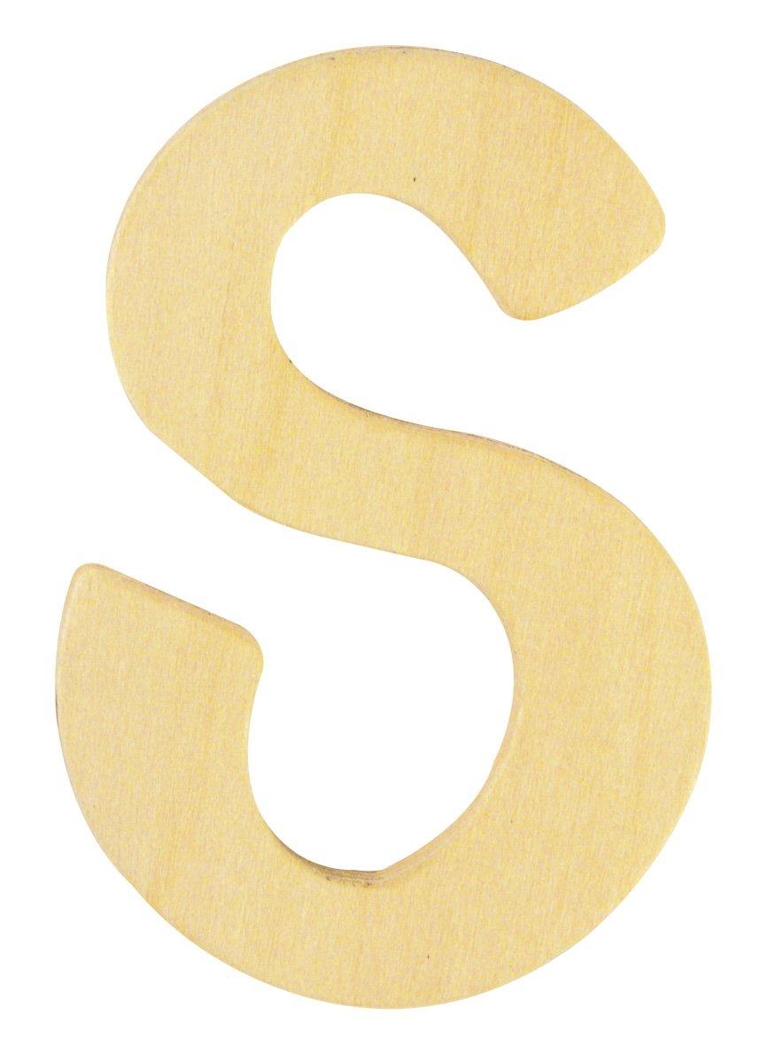 6 cm S Rayher Hobby 6194800 Holz-Buchstabe