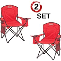 $24 » Coleman Portable Camping Quad Chair with 4-Can Cooler