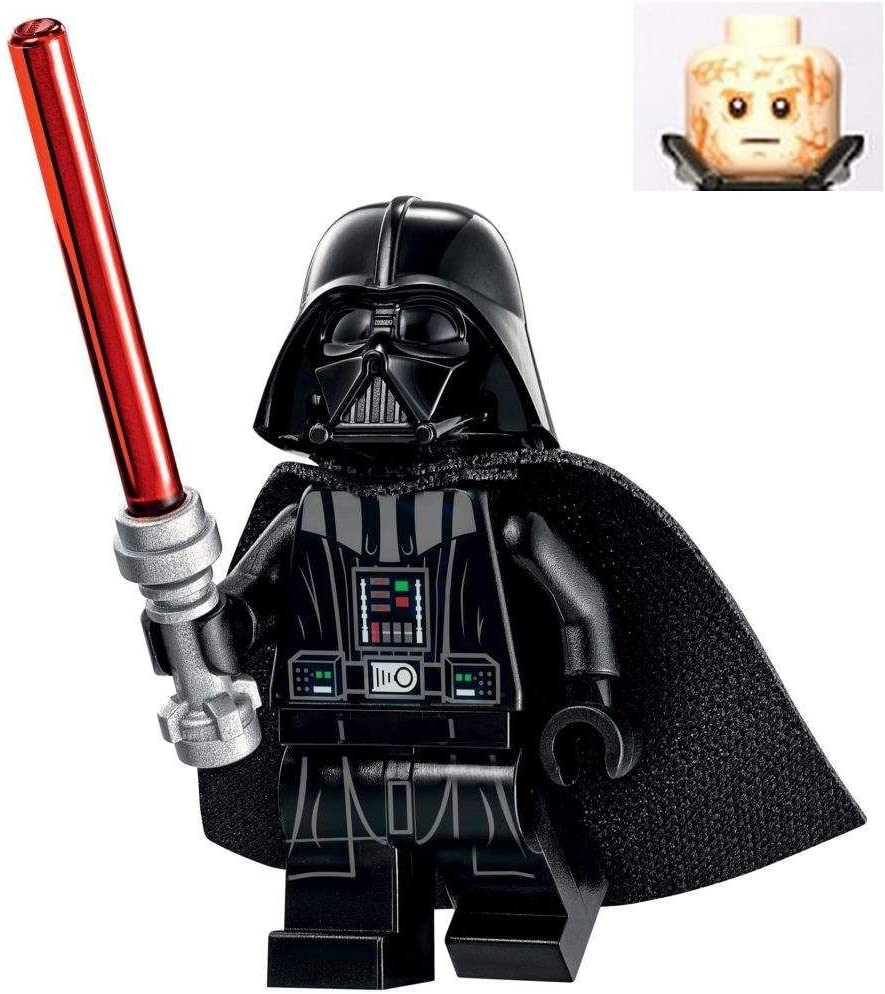 Amazon Com Lego Star Wars Revenge Of The Sith Darth Vader Minifigure With Burnt Head 2017 Toys Games