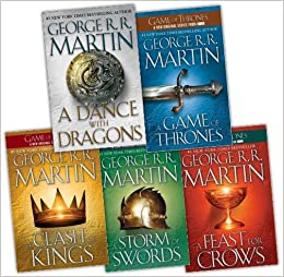 George R. R. Martin Song of Ice and Fire 5 Books Collection Pack ...