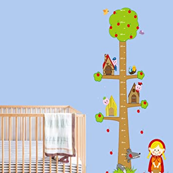 vinilos decorativos vinilo infantil modelo vinilos infantiles arbol medidor vinilo pared