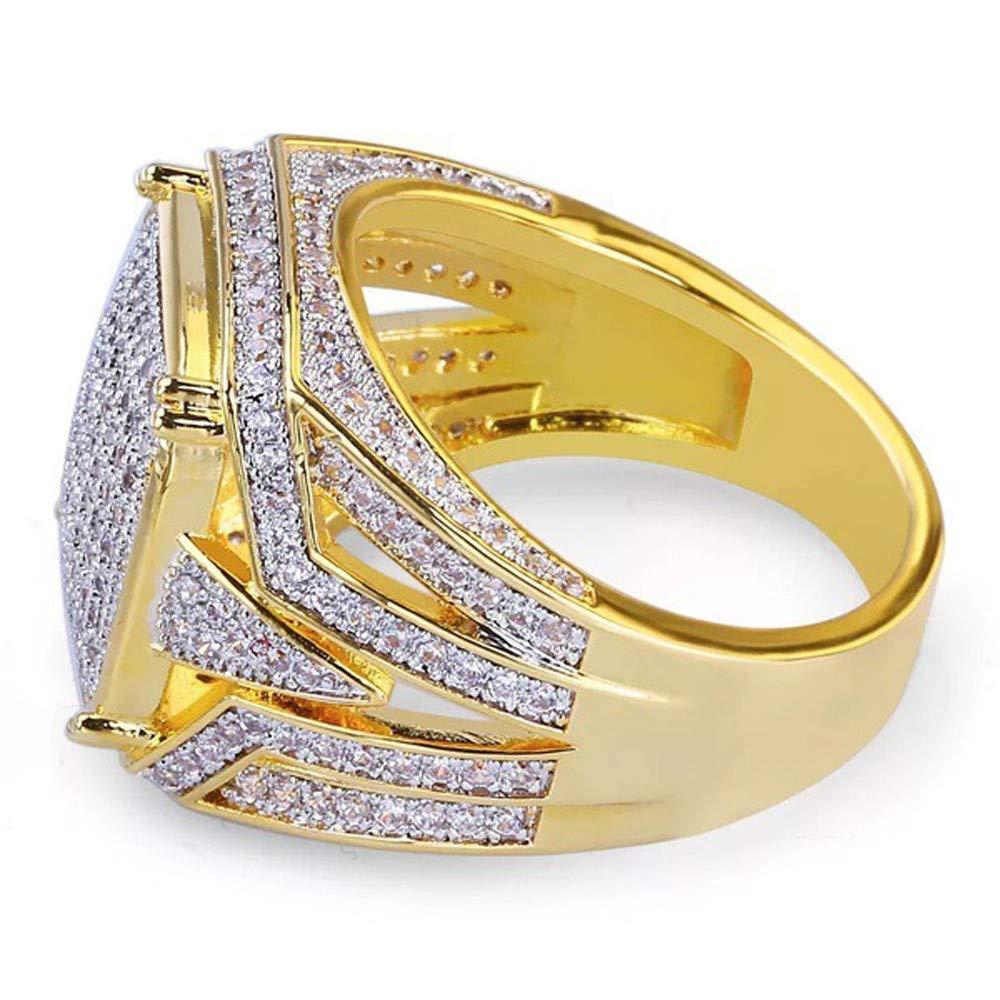 0415ca0751ed8 Amazon.com: Barhalk Mens Business Ring US Size 7-12 Diamond ...