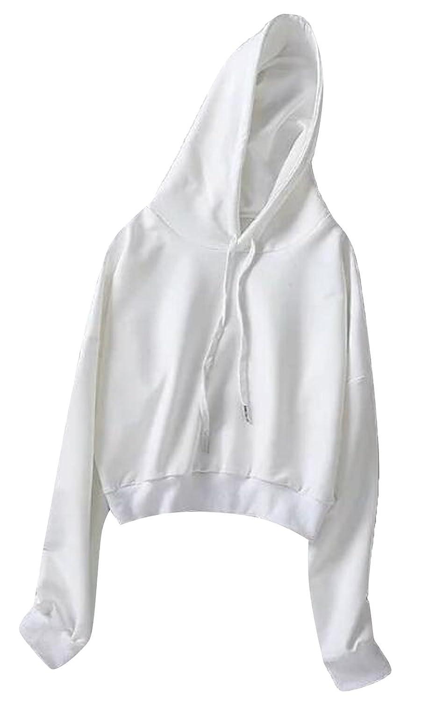 Only Faith Women Long Sleeve Sweatshirt Hoodie Pullover Crop Top Jacket