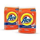 Ace Detergente en Polvo 4Kg, 2 Unidades, Total 8Kg
