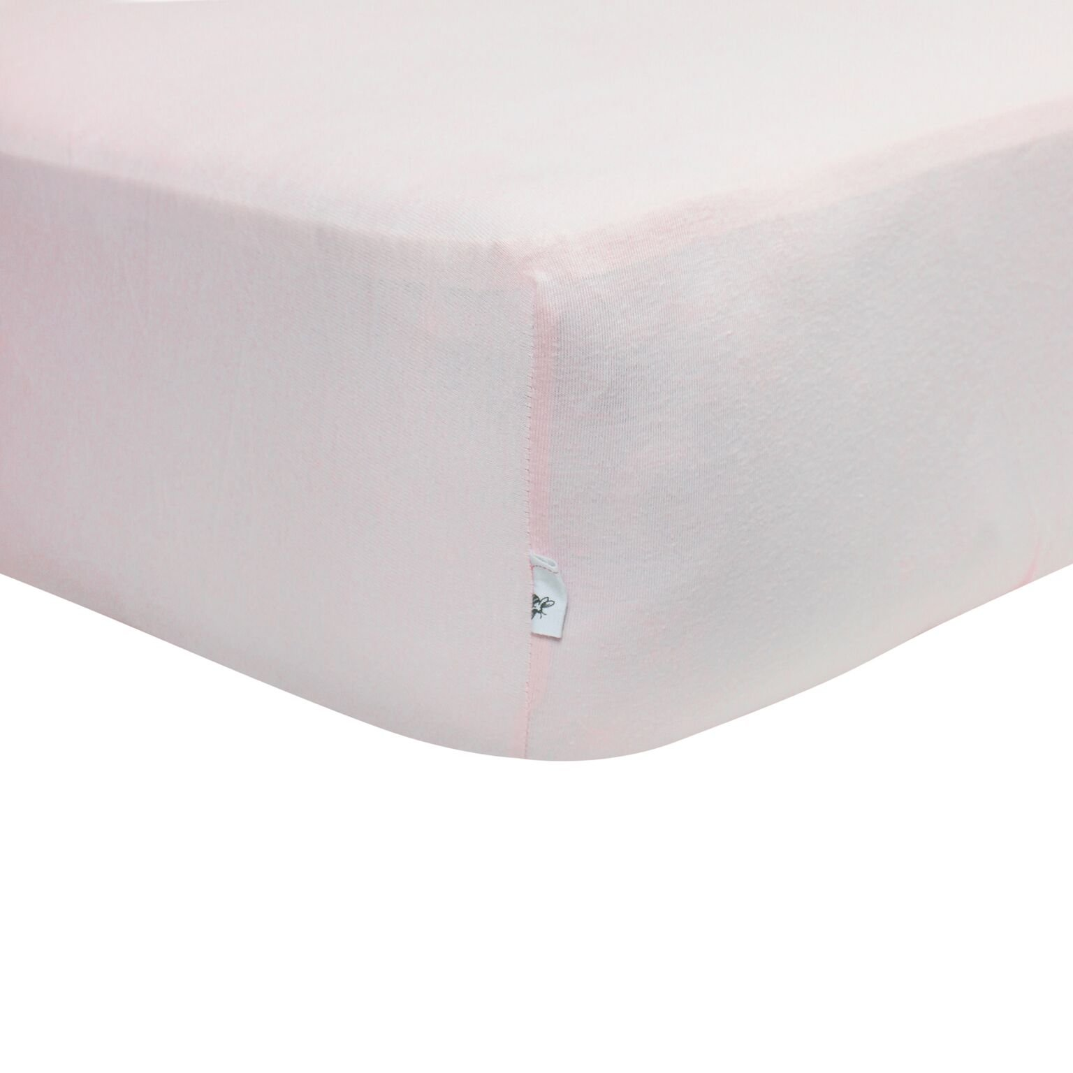 Burt's Bees Baby - Solid Fitted Crib Sheet, 100% Organic Crib Sheet for Standard Crib and Toddler Mattresses (Blossom)