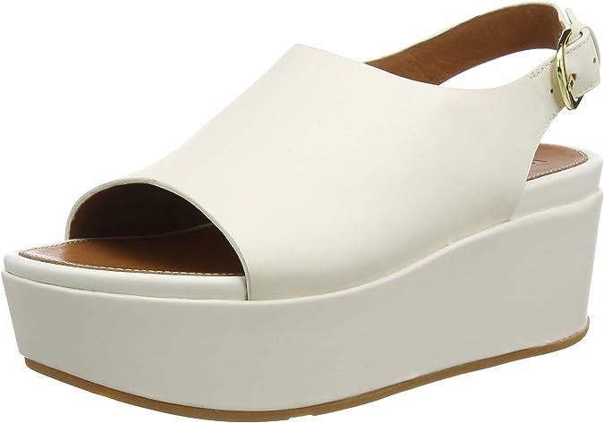 DAFENP Womens Sandals Wedges Leather Comfort Breathable Peep Toe Walking Platform Heeled Shoes