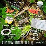 SharpSurvival Survival Tin Emergency Preparedness Survival Kit (10 Items)
