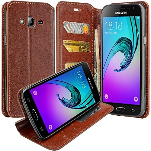 7d9d314ea5 Galaxy J7 Case, Samsung Galaxy J7 Wallet Case, Slim Flip Folio [Kickstand  Feature