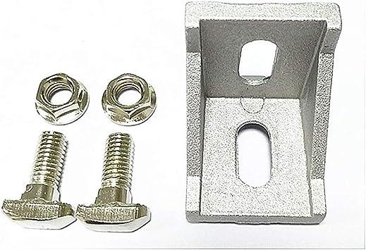 20Stk M6 Gewinde Metall T-Nut Drop-In Schiebe Schraube Bolzen Neu