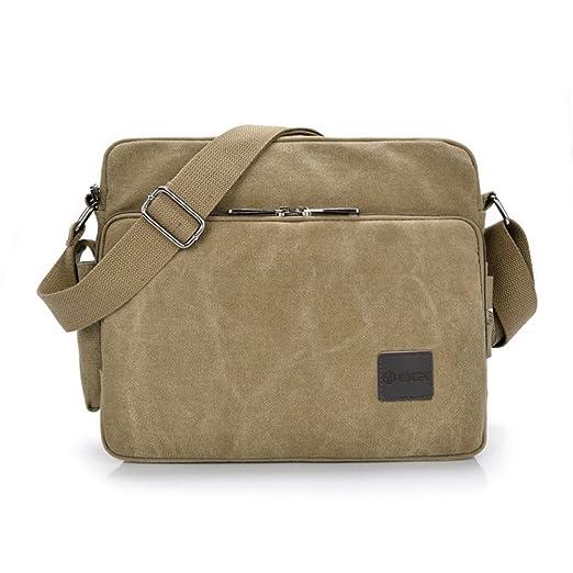 53 opinioni per Messenger Bag, GSTEK Unisex Vintage Canvas Messenger Bags Casual Spalla