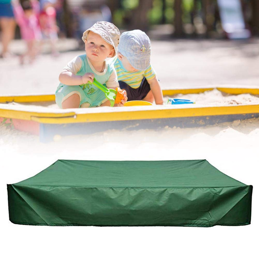 Funarrow Green Sandbox Covers with Drawstring Multi-Purpose Waterproof Poly Tarp Cover Cover Pool Cover 95 UV Protection Dustproof, Avoid The Sand and Toys Contamination by Funarrow (Image #7)