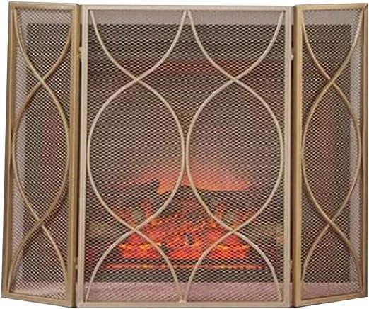 Antichispas Salvachispas para chimenea YXX Pantalla de Chimenea Plana Moderna, Plegable 3 Paneles Spark Guard Fire Pit Screens para Baby Proofing, Divisor de Pantalla de Sala de Verano, Oro: Amazon.es: Hogar