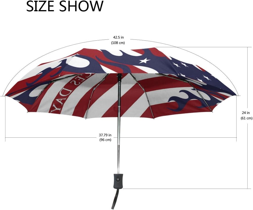 Compact Travel Umbrella Armed Forces Day Sun and Rain Auto Open Close Umbrellas Lightweight Portable Outdoor Folding Umbrella