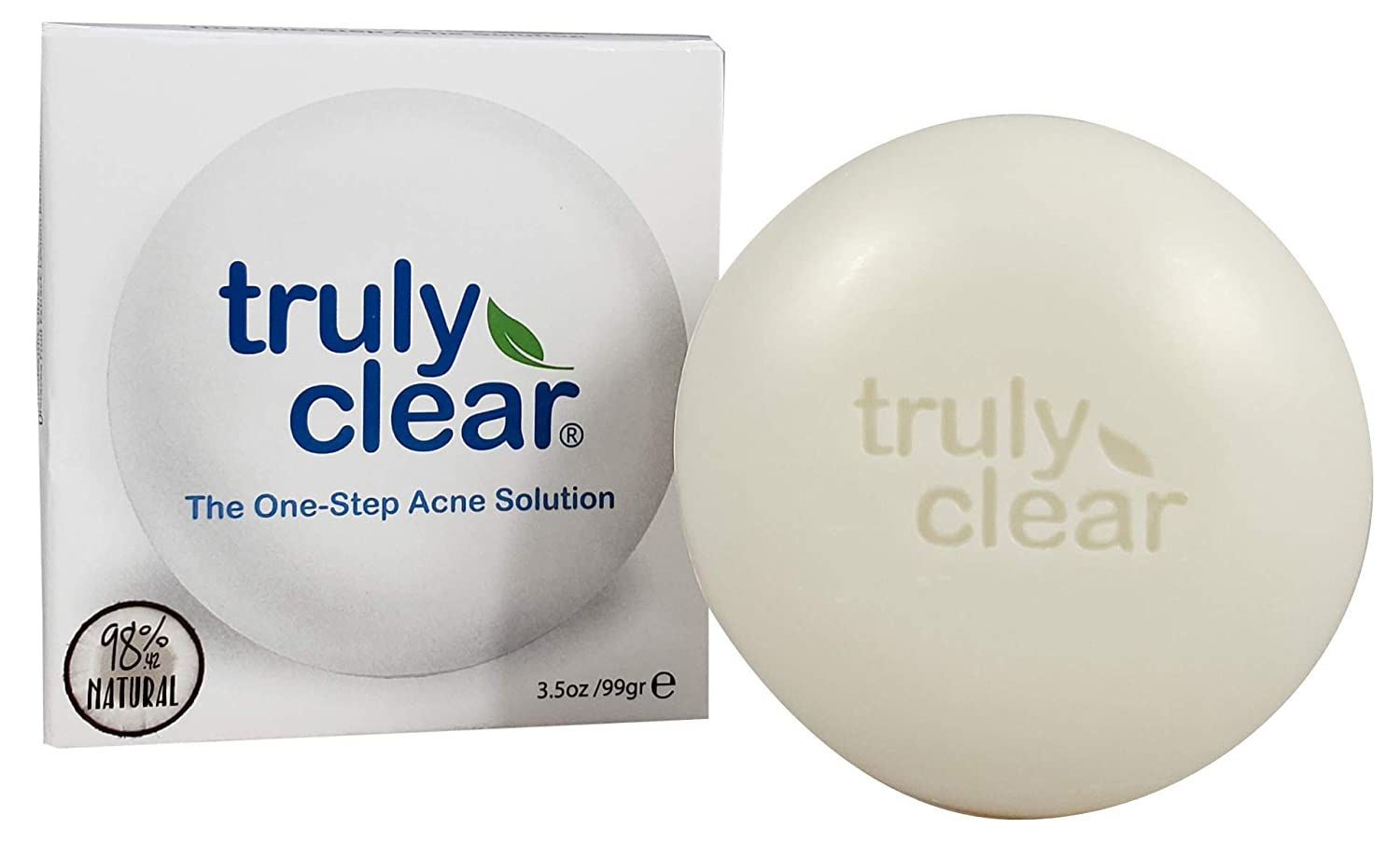 b2eb242750e8 Truly Clear Blemish Bar Acne Treatment 98.42% Natural - Face Wash, Body,  Back, Butt Cleanser, Pimple...