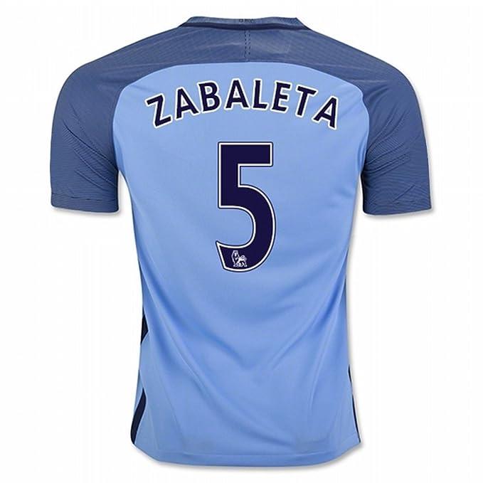 EKUJSTC-Sports 2016 2017 Manchester City FC Camiseta de 5 Pablo Zabaleta casa fútbol Jersey