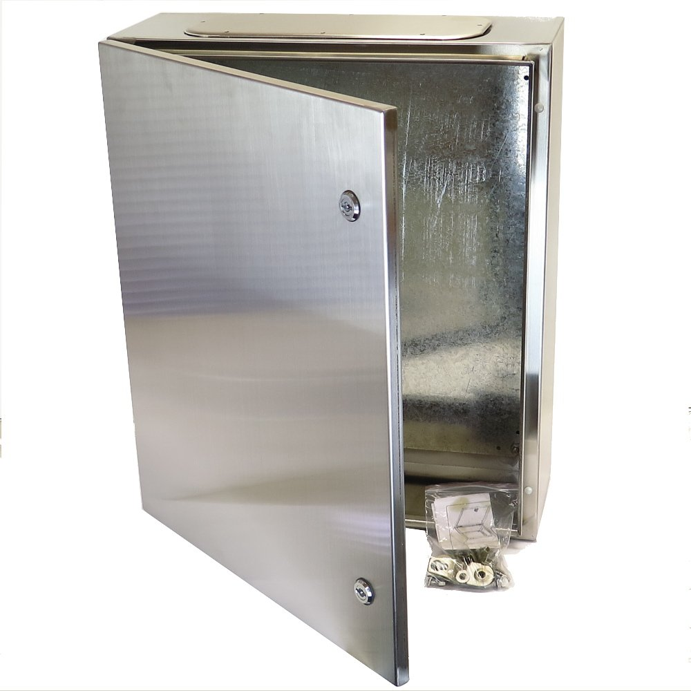 YC-24X16X12-SS YuCo IP65 16 GAUGE INDOOR / OUTDOOR WALL-MOUNT STAINLESS STEEL ENCLOSURE 24''(600)H X 16''(400)W X 12''(300)D by Yuco (Image #2)
