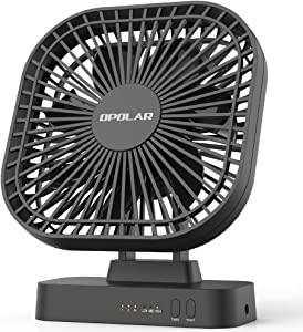 AA Battery Operated Fan,Portable Battery-Powered Desk Fan,7-Blade Design,90-Degrees Adjustable Head, Indoor and Outdoor Use