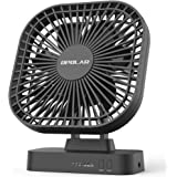 OPOLAR 5 Inch Desk Fan with Timer, USB or AA Battery Operated, 3 Speeds, Extra Quiet, 7-Blade Design, Adjustable Angle…