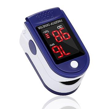 Oxímetro de Dedo GrandBeing, Medidor de Oxígeno en Sangre y Monitor de Frecuencia Cardíaca con