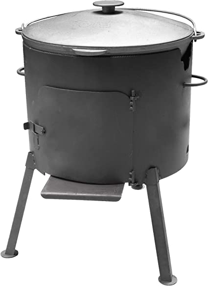 Utschag Uchag - Estufa de camping con olla giratoria de 12 l para cacerola de hierro fundido Tatarskij Plow BBQ Grill, caldera para cocina exterior, ...