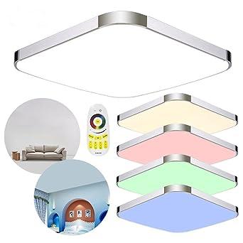 MCTECH 64W RGB Deckenleuchte Modern Deckenlampe Flur Wohnzimmer Lampe Schlafzimmer