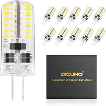 10Pcs G9 LED Light Bulbs Non-Dimmable Warm White 6000K for Landscape Ceiling
