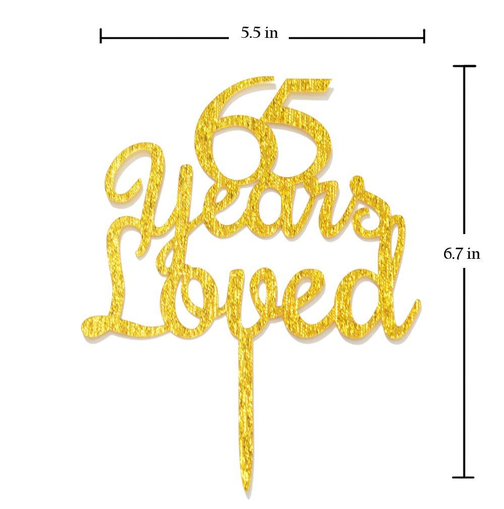 qttier 65 años Happy 65th cumpleaños aniversario de tarta ...