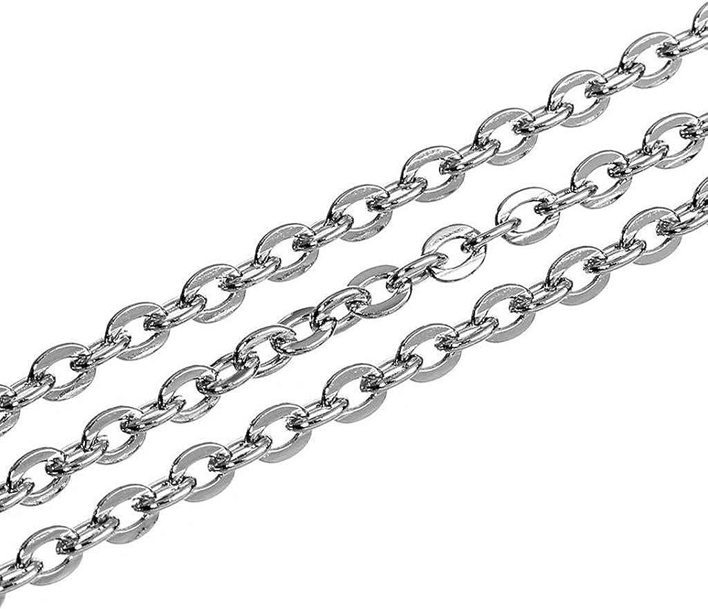 9 m Edelstahl DIY Link Kette Halsketten für Schmuck Herstellung Silber