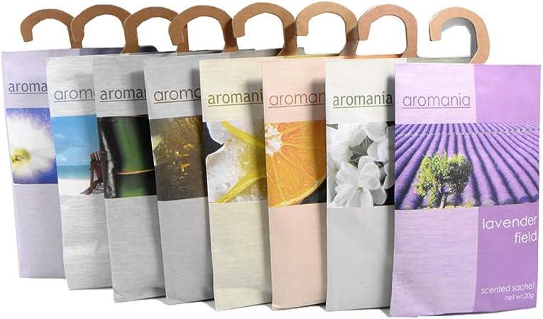 YUMSUM 8 paquetes de fragancias perfumadas perfumadas de la ropa Perfume para los cajones y los armarios, 20g / Packada,20g: Amazon.es: Hogar