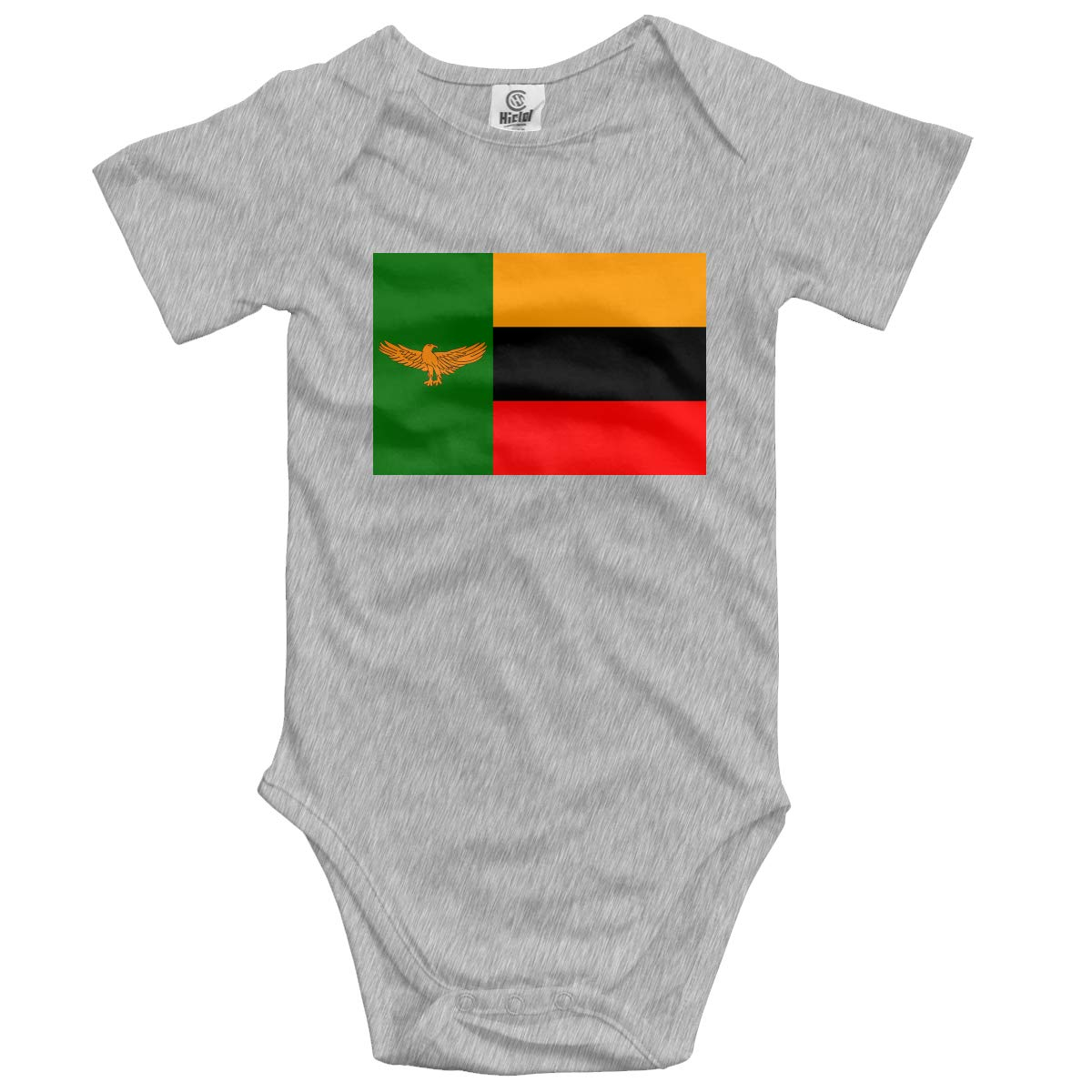 CUTEDWARF Baby Short-Sleeve Onesies Flag Zambia Bodysuit Baby Outfits
